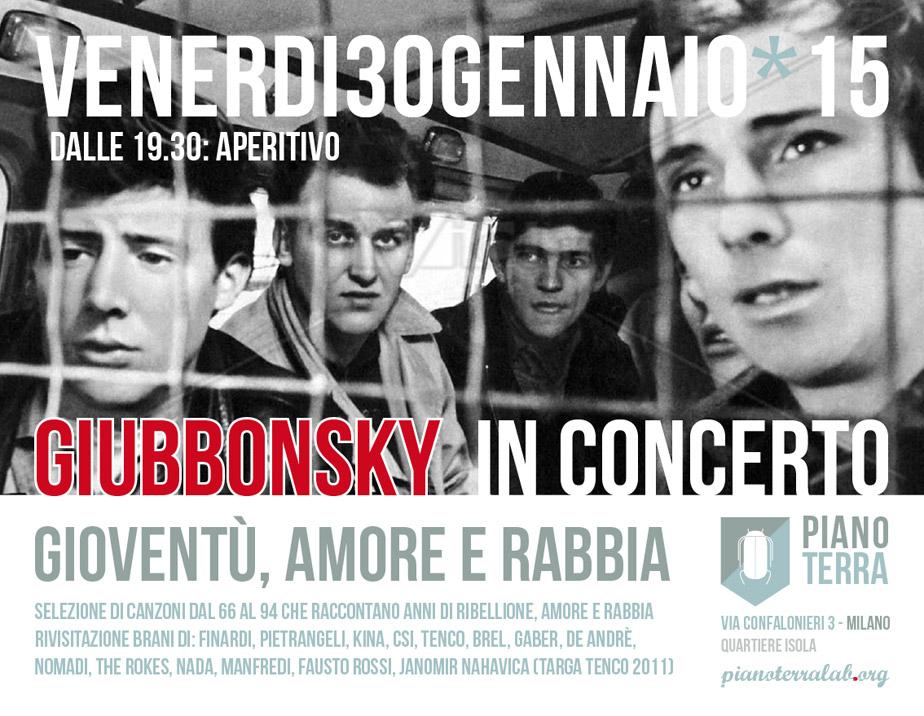 GIUBBONSKY in concerto @ Pianoterralab | Milano | Lombardia | Italia