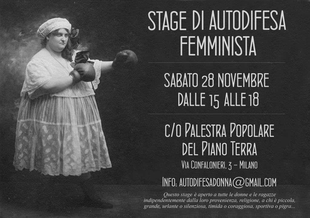 Stage di autodifesa femminista   PalPop Piano Terra
