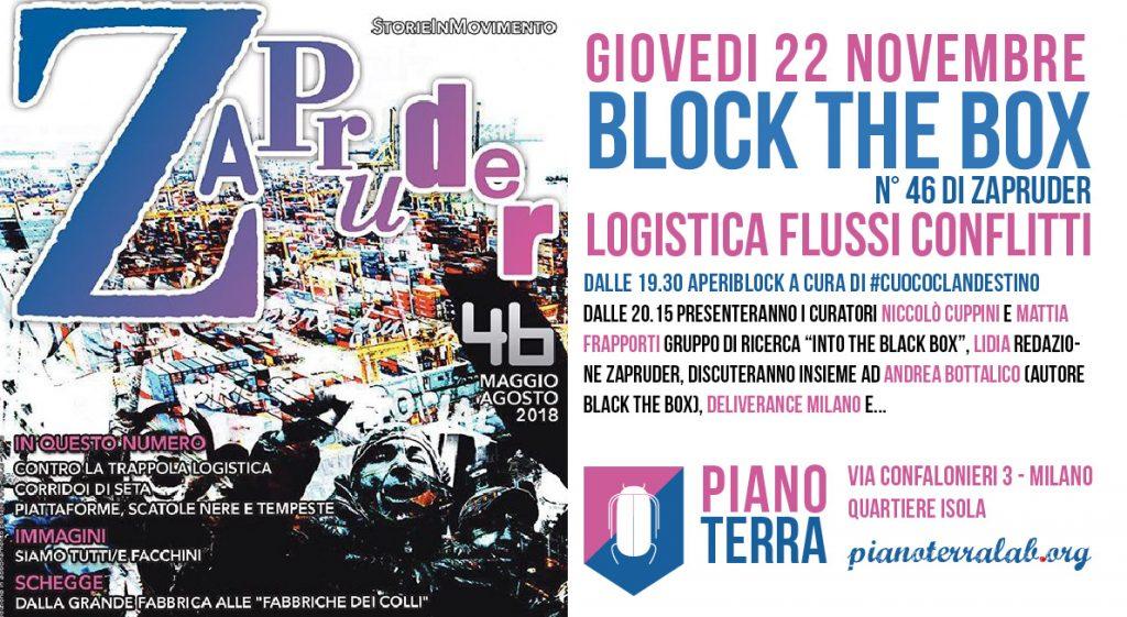 """""""Block the Box. Logistica, flussi, conflitti"""", n. 46 di Zapruder"""