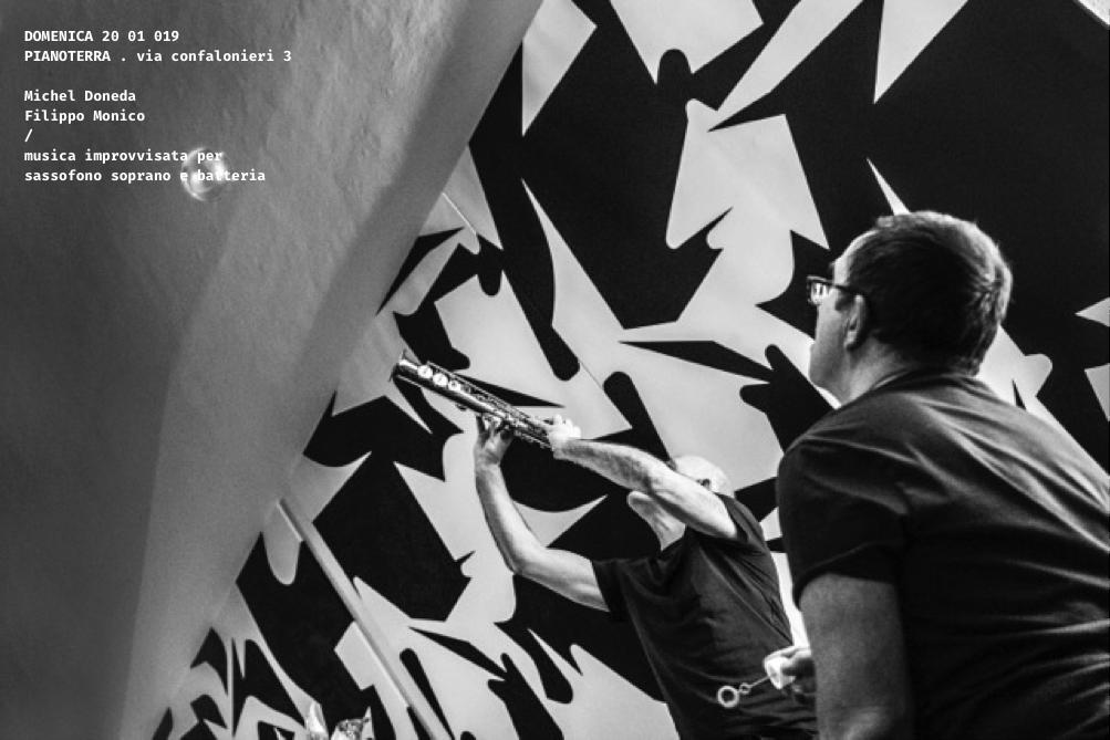Michel Doneda | Filippo Monico  musica improvvisata per sassofono soprano e batteria