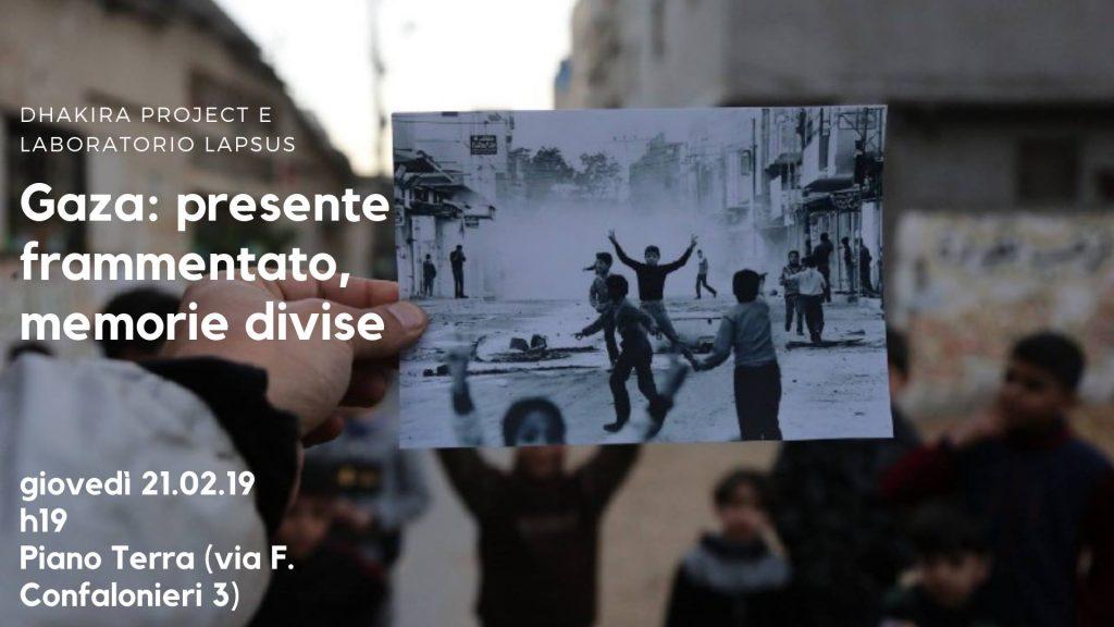 Dhakira Project — ذاكرة. Racconti dalla Striscia di Gaza - benefit