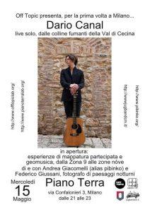 Dario Canal live solo + geomusica e mappe partecipate